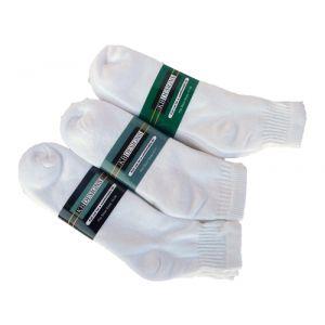 Large Size Athletic Quarter Socks White - 3 pack