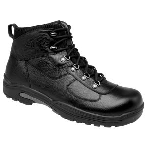 Drew Shoe Rockford - Black Tumbled Leather